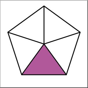 Clip Art: Polygon 05 1/5 Color I abcteach.com.