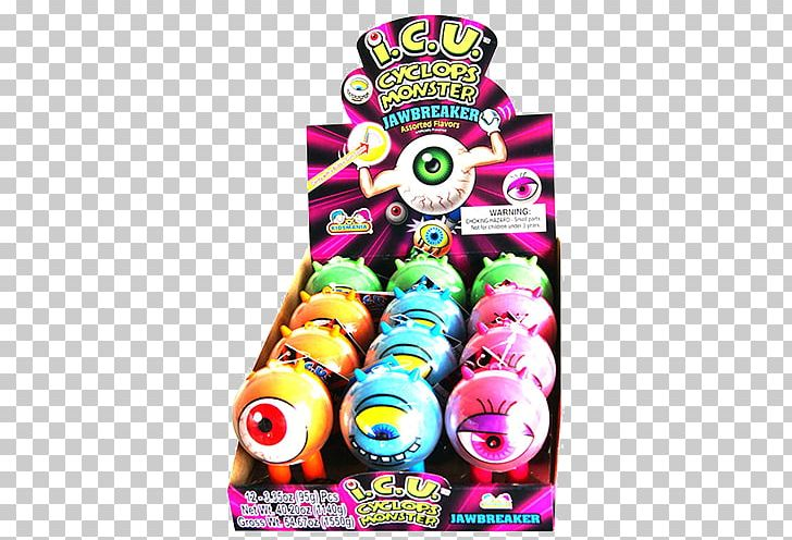 Gobstopper Candy I.C.U. Cyclops Monster Jawbreaker PNG.
