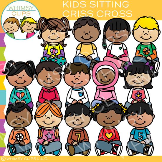 Kids Sitting Criss Cross Clip Art.