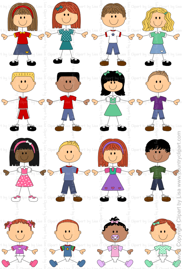 stick figure kids and babies graphics and clipart samples 5.