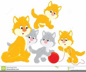 Cute Kittens Clipart.