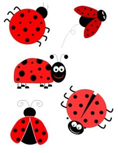 Ladybugs clipart five, Ladybugs five Transparent FREE for.