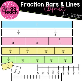Fraction Bars and Number Lines {Clipart}.