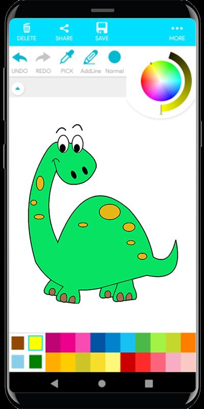 Coloring Little Dinosaurs New for Android.