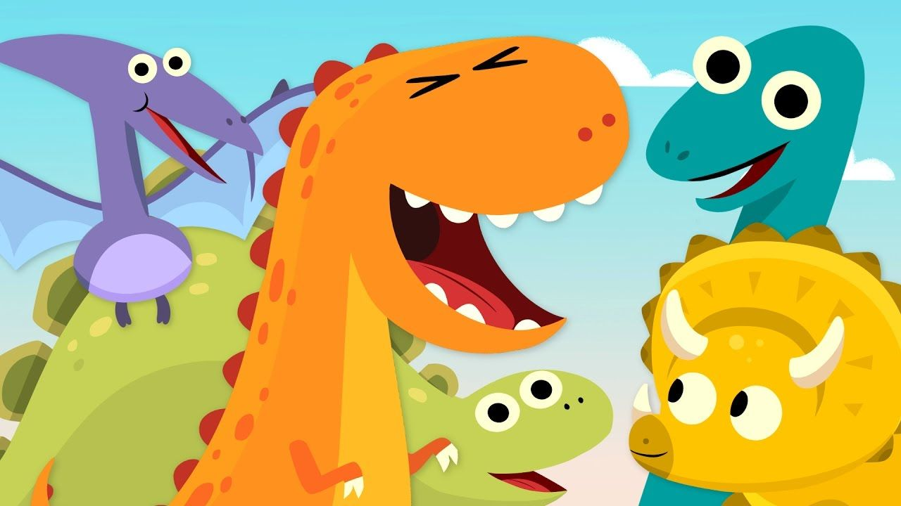 Learn dinosaurs and practice counting with \