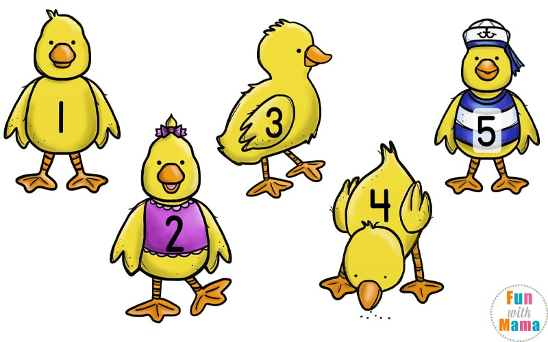 Your Kids Will Love This Five Little Ducks Counting.
