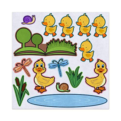 Amazon.com: 5 Little Ducks Nursery Rhyme Felt Play Art Set.