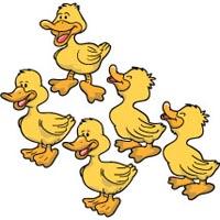 Five Little Ducks Clipart.