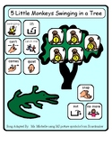 Five Little Monkeys Swinging On A Tree Teaching Resources.