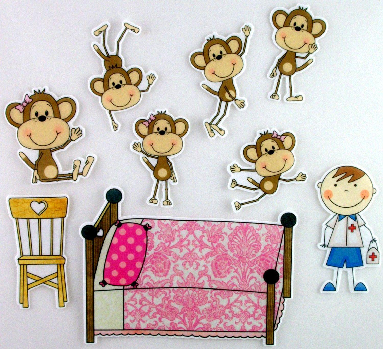 Five Little Monkeys Clipart #1.