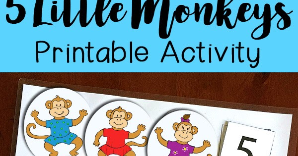 Five Little Monkeys Jumping on the Bed Printable Activity.