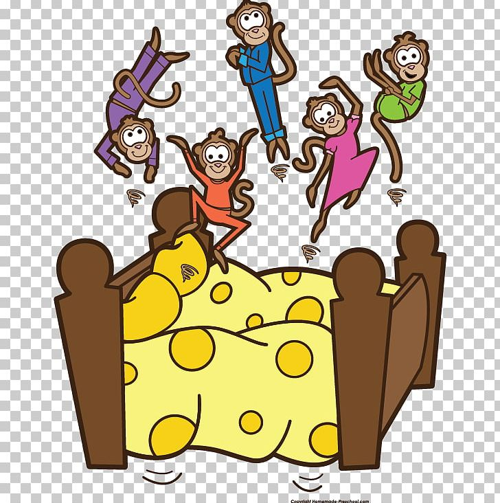 Five Little Monkeys Jumping On The Bed PNG, Clipart, Area, Art.