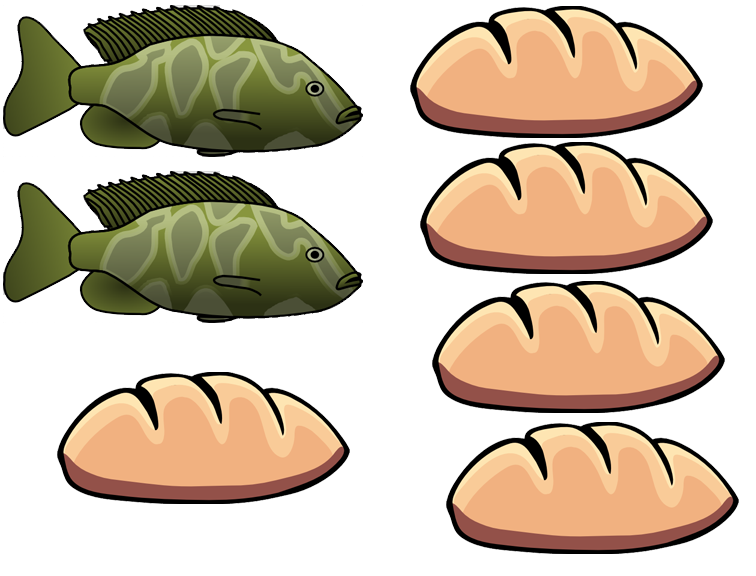 5 loaves and 2 fish clipart clipground for Five loaves two fish
