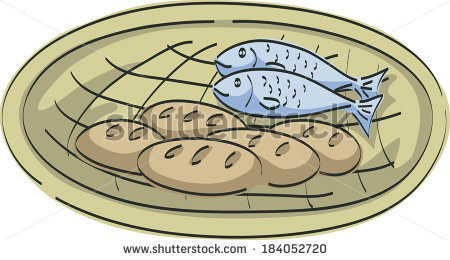 Five Loaves And Two Fish Stock Images Royalty