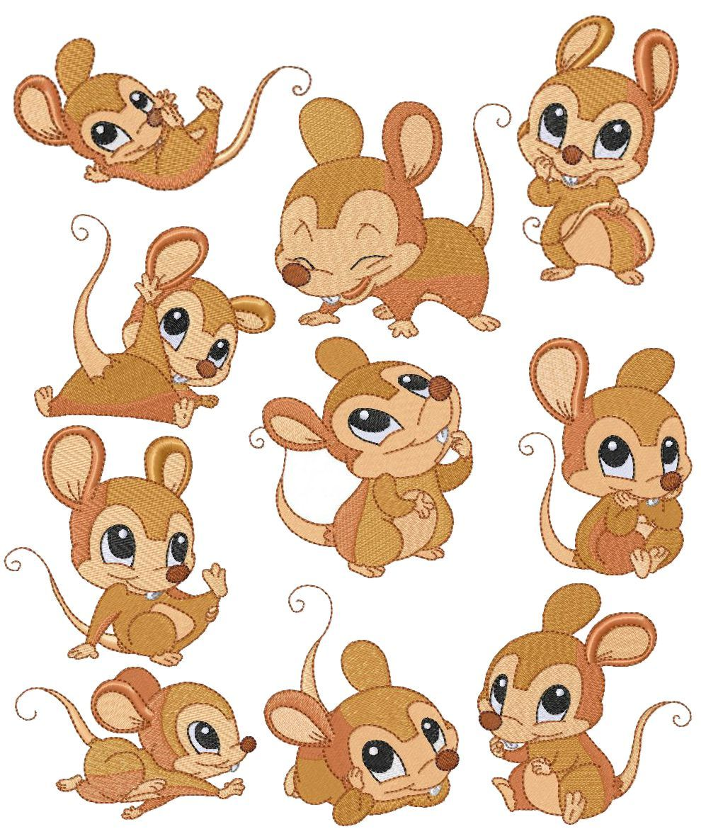 5 mice clipart Transparent pictures on F.