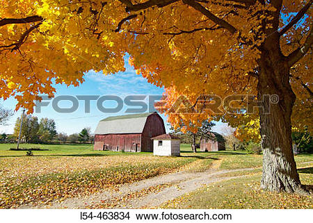 Stock Photo of Northern Indiana, 5 miles southeast of the small.