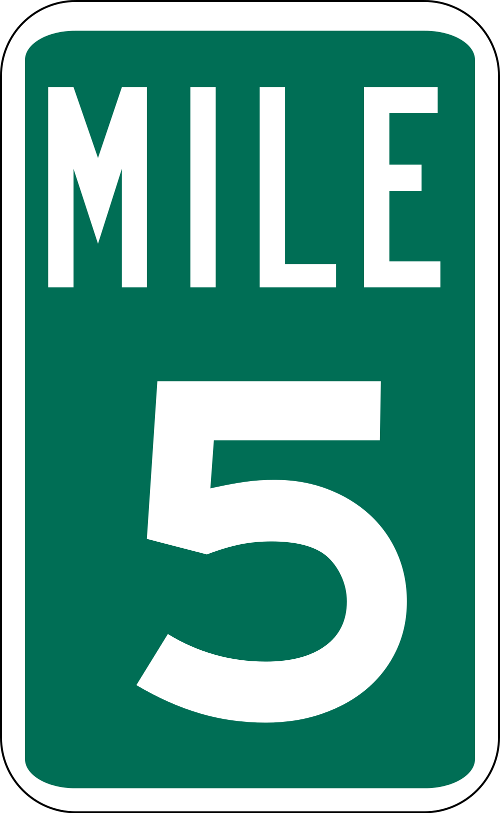 File:Mile Marker 5.svg.