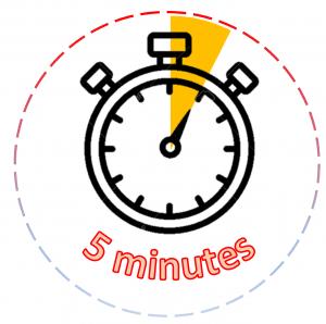 5 minute alarm.
