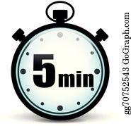 5 Minute Clock Clip Art.