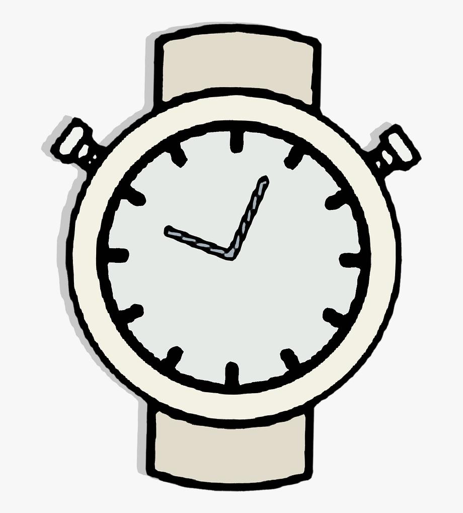 Watch Clock Clipart Vector Sticker Gray.