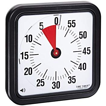 Time Timer Audible Countdown Timer, 12 Inches, Black.