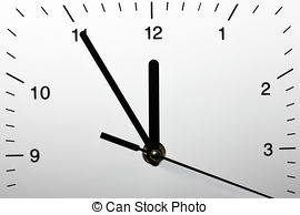 Stock Photography of 5 minutes to midnight.