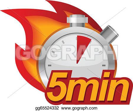 Five Minutes Clip Art.