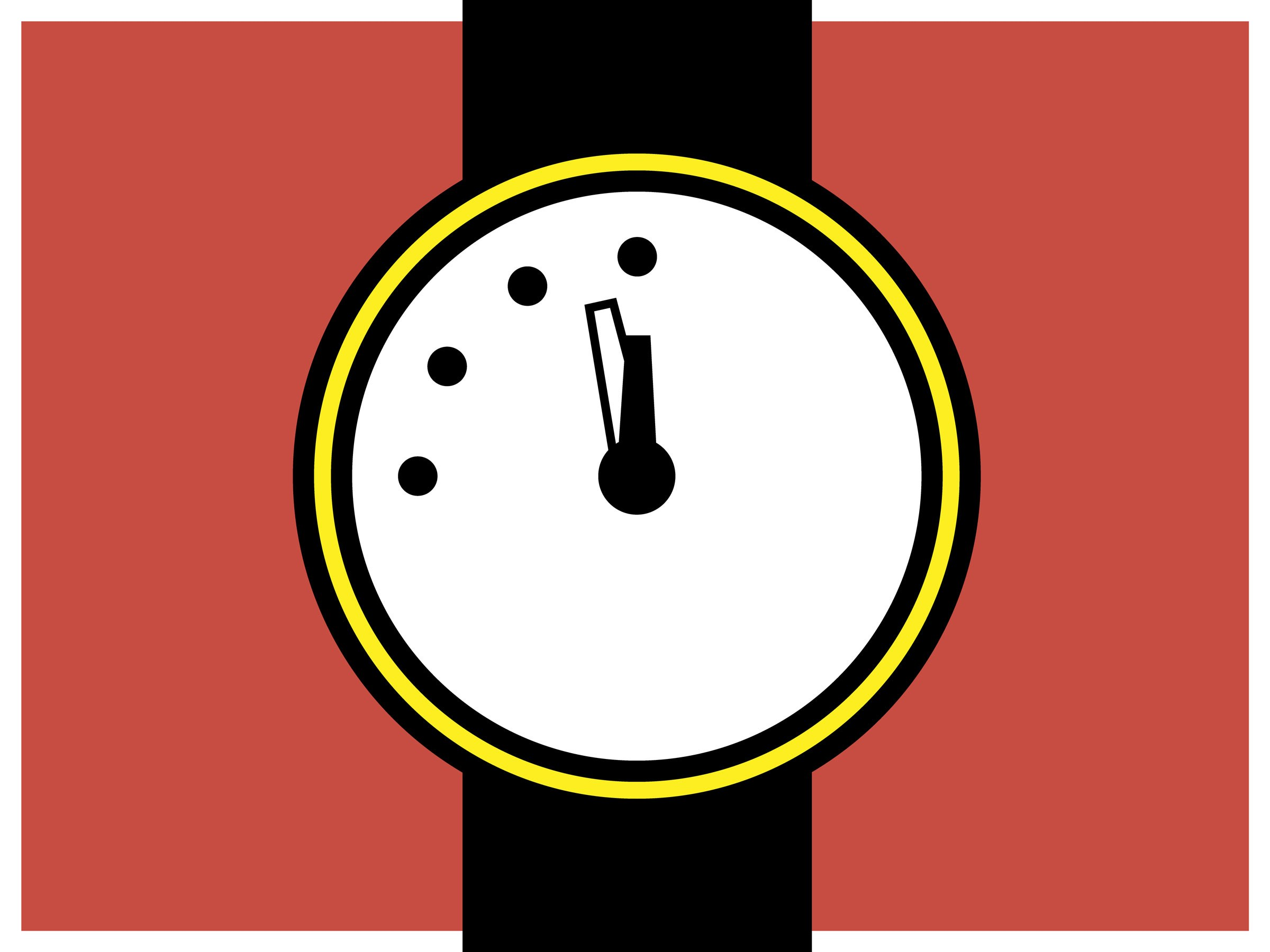 The Doomsday Clock Ticks Closer to Midnight Over Nuclear War Fears.