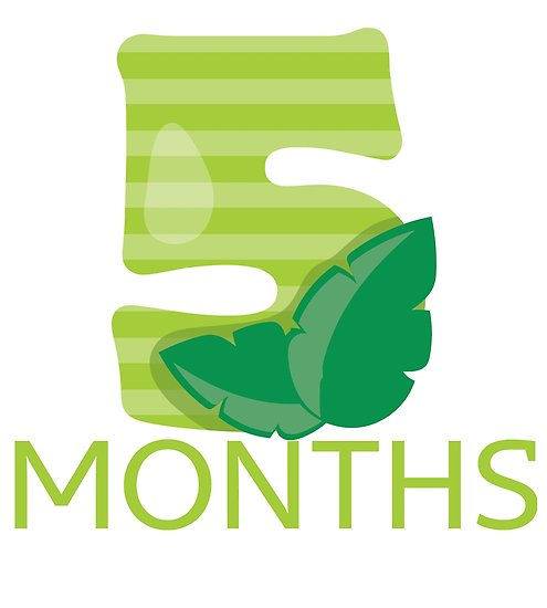 \'5 Months Old Milestone. Jungle/ Safari theme\' Poster by AlaskaGirl.