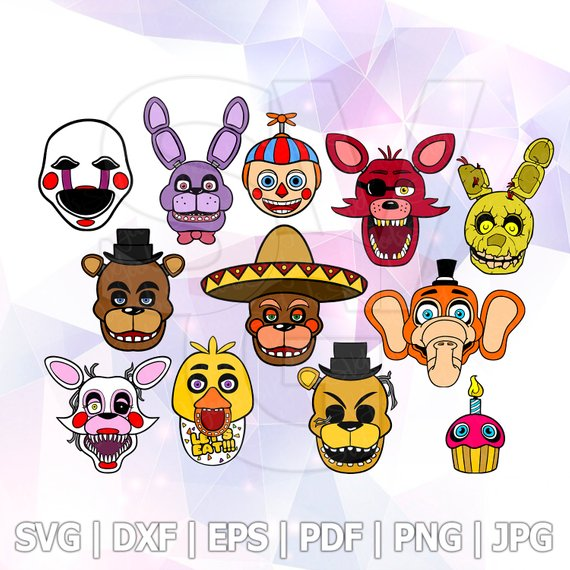 Pin on FNAF Five nights at Freddys SVG.