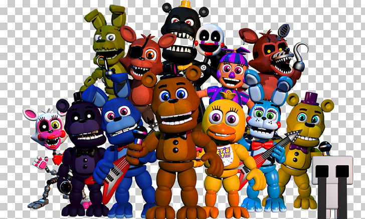 FNaF World Five Nights at Freddy\'s: Sister Location Five.