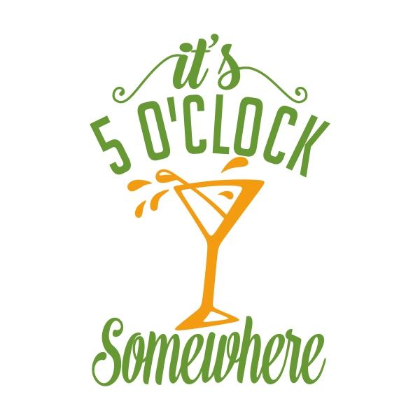 5 O\'Clock Cuttable Design.