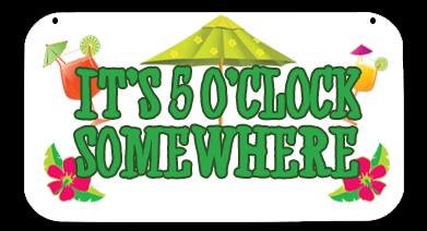 5 O\'clock Somewhere Clipart.