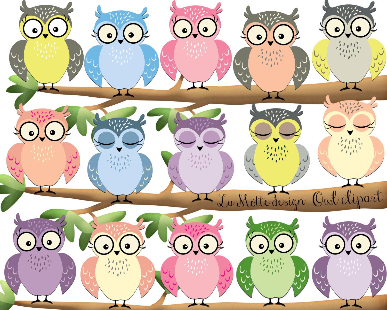 1145 Cute Owl free clipart.