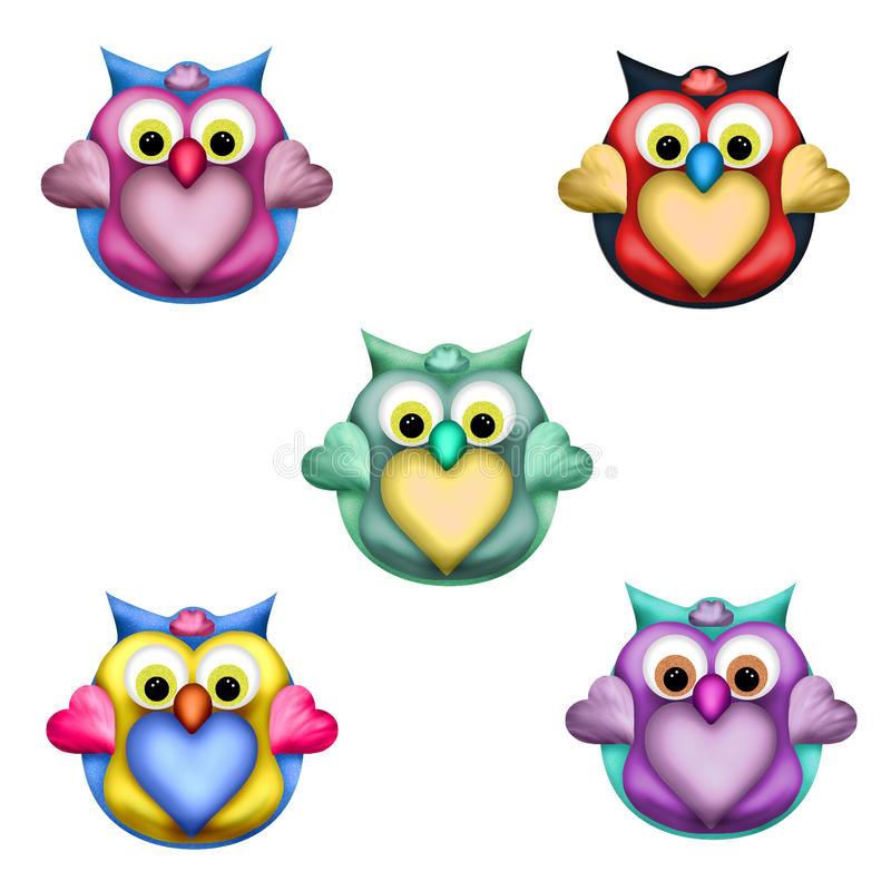 Owl Toppers Stock Illustrations.