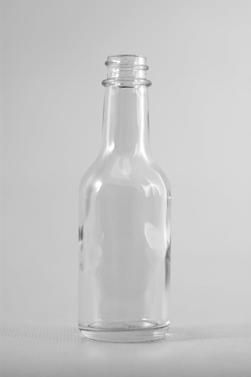 10 oz (300 mL) Clear Glass Decanters (Gold Lug Cap).