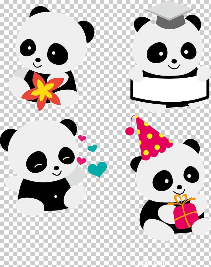 Giant panda Red panda Bear Cuteness , Cute Panda, four.