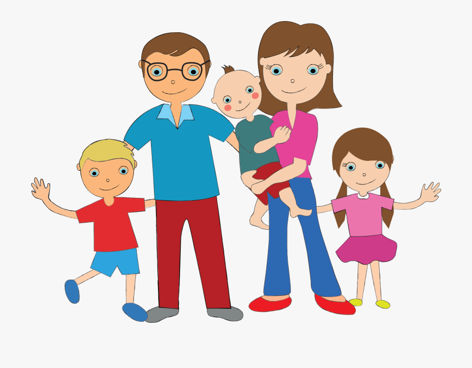 5 Family Members Clipart.
