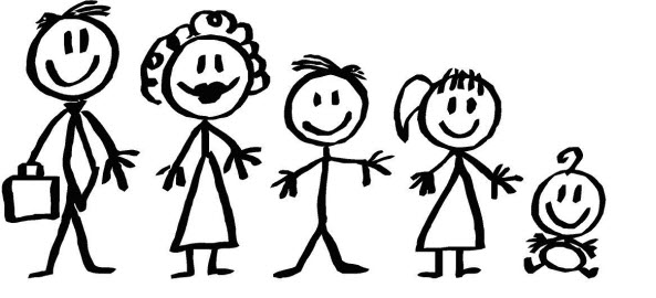 Family clipart 5 people 5 » Clipart Station.