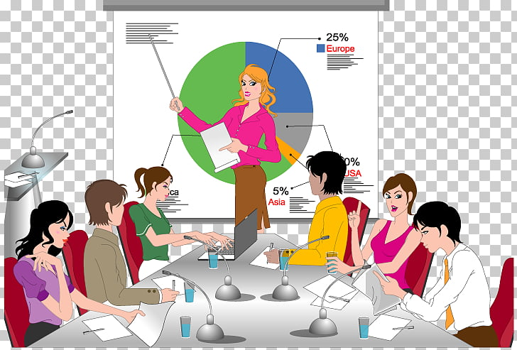 Meeting Illustration, Business Meetings PNG clipart.