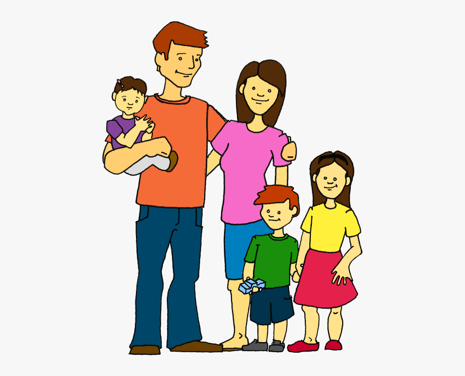 Pin Family Clipart Black And White 5 People.