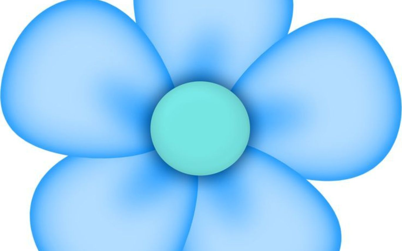 Images of 5 Petal Flower Clipart.
