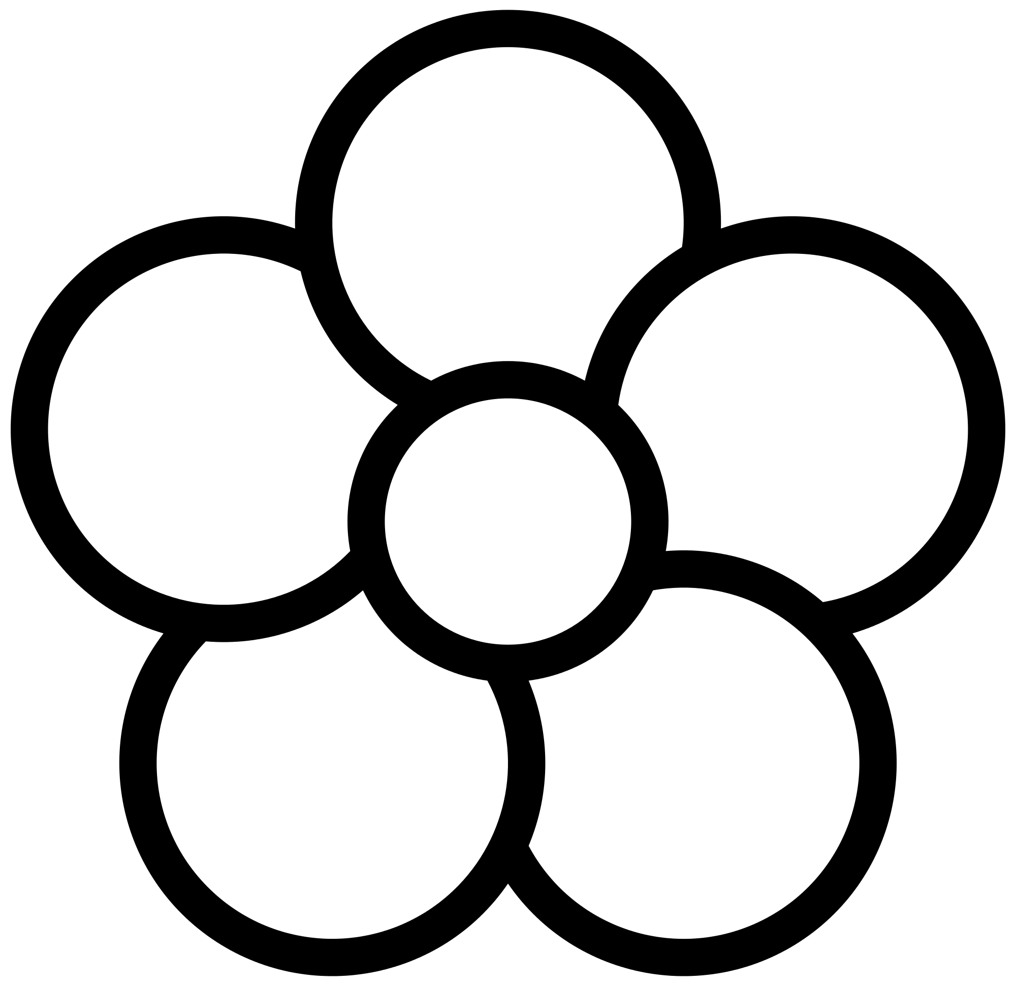 Flower With 5 Petals Clipart.