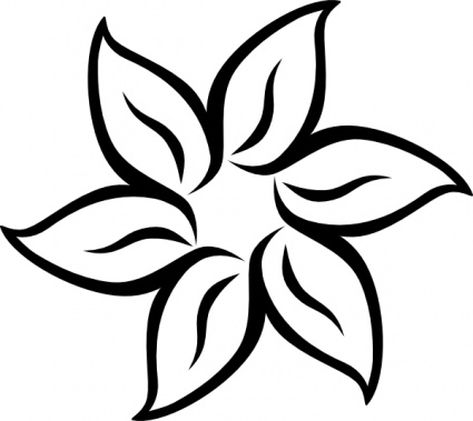 5 Petal Flower Pattern Template.