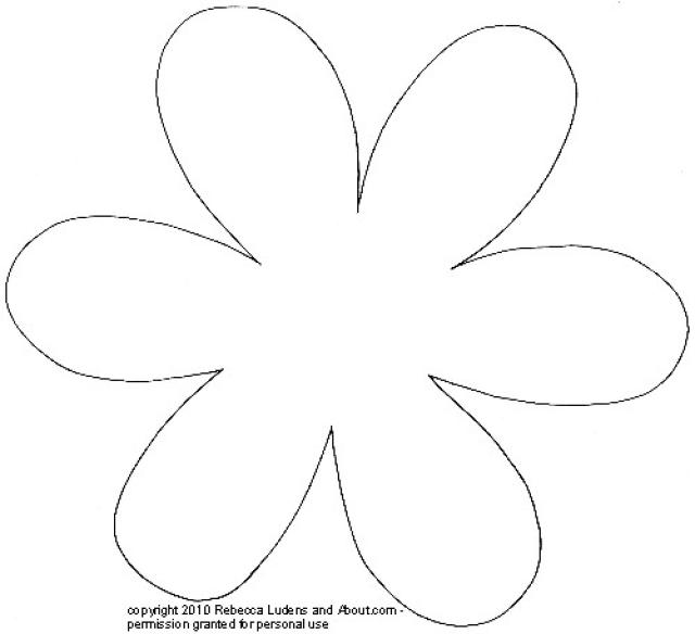 5 petal flower pattern template #5