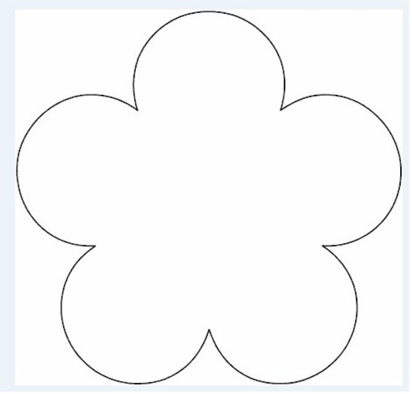 5 petal flower pattern template clipground for 12 petal flower template