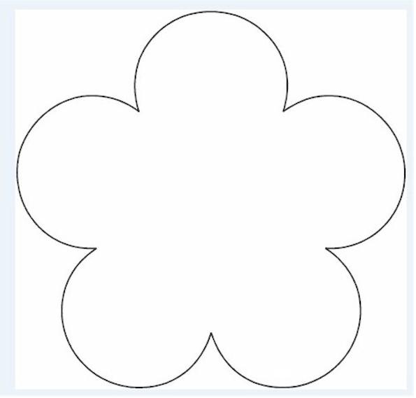 5 petal flower pattern template #8