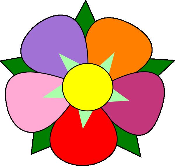 Clipart 5 petal flower.
