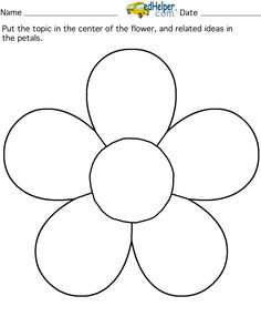 flower template free printable.