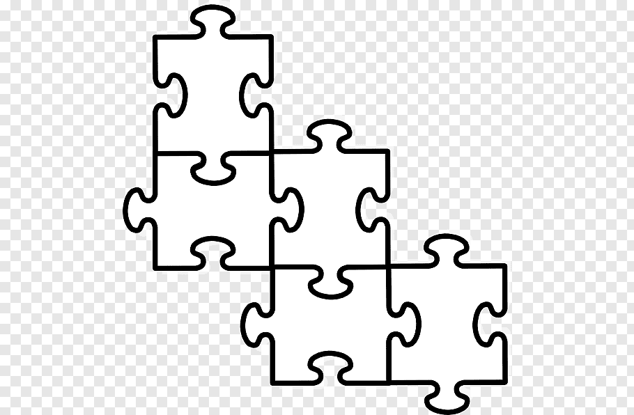 White puzzle pieces, Jigsaw puzzle Puzzle video game, Large.
